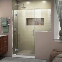 DreamLine Unidoor-X 56.5-Inch Frameless Hinged Shower Door in Chrome