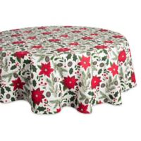Design Imports Woodland Christmas 70-Inch Round Tablecloth