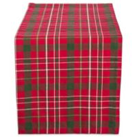 Design Imports Tartan Holly Plaid 108-Inch Table Runner