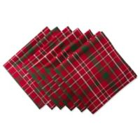 Design Imports Tartan Holly Plaid Napkins (Set of 6)