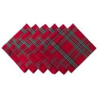 Design Imports Holiday Plaid Napkins (Set of 6)