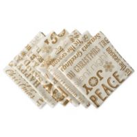 Design Imports Christmas Collage Napkins in Gold (Set of 6)