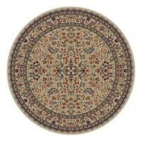 Concord Trading Sarouk 63-Inch Round Rug in Ivory