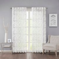 Regency Heights Cosma 63-Inch Rod Pocket/Back Tab Sheer Window Curtain Panel in White