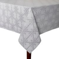 Winter Woven 60-Inch x 84-Inch Oblong Tablecloth in Grey