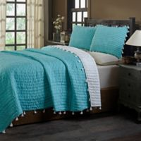 Amity Home Basia Queen Quilt Set in Turquoise