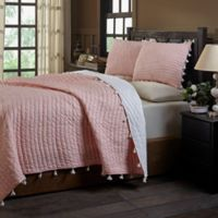 Amity Home Basia Queen Quilt Set in Peach