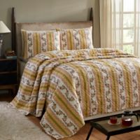 Amity Home Marie King Quilt Set in Yellow