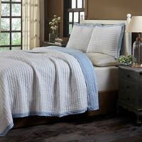 Amita Home Briten King Quilt Set in Blue
