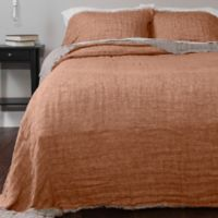 Anita Home Kent Queen Coverlet Set in Terracotta