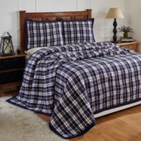 Amity Home Bernard King Quilt Set in Navy