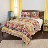 Rizzy Home Geometric Twin XL Quilt Set in Yellow