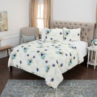 Rizzy Home Floral Twin XL Quilt Set in Blue