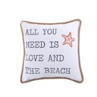 "Levtex Home ""All You Need Is Love"" Square Throw Pillow"