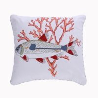 Levtex Home Screen Print Fish Square Throw Pillow
