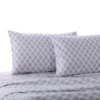 Levtex Home Damask Twin Sheet Set in Grey