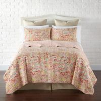 Levtex Home Flower Fields Reversible King Quilt Set in Orange/Green