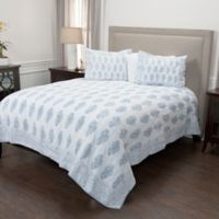 Rizzy Home Charlotte Queen Quilt in Blue