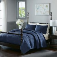 Madison Park Signature Serene King Coverlet Set in Blue