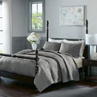 Madison Park Signature Serene King Coverlet Set in Grey