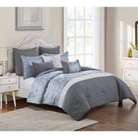 VCNY Home Waveland 8-Piece Queen Comforter Set in Slate