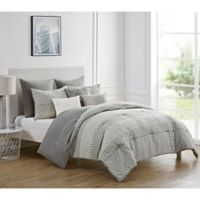 VCNY Home Macaire 8-Piece King Comforter Set in Grey/Taupe