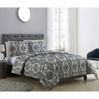 VCNY Home Nica 3-Piece King Comforter Set in Grey/White