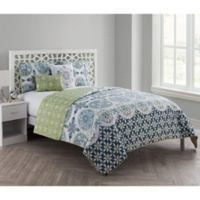 VCNY Home Vandeliss Medallion Reversible King Quilt Set in Green