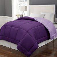 Microfiber Down Alternative Reversible Full/Queen Comforter in Purple/Violet