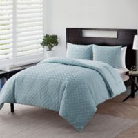 VCNY Home Nina Embossed 2-Piece Twin XL Comforter Set in Blue