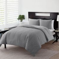 VCNY Home Nina Embossed 2-Piece Twin XL Comforter Set in Grey