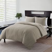 VCNY Home Nina Embossed 3-Piece Full/Queen Comforter Set in Taupe