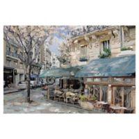 Masterpiece Art Gallery Bistro de Paris I 24-Inch x 36-Inch Canvas Wall Art