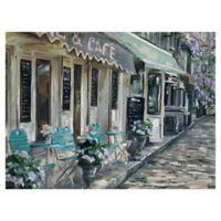 Masterpiece Art Gallery Bistro de Paris II 30-Inch x 40-Inch Canvas Wall Art