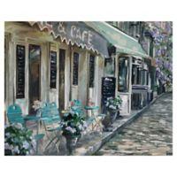 Masterpiece Art Gallery Bistro de Paris II 22-Inch x 28-Inch Canvas Wall Art