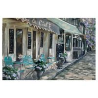Masterpiece Art Gallery Bistro de Paris II 24-Inch x 36-Inch Canvas Wall Art