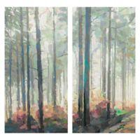 Woodland Journey Panel I & II 12-Inch x 24-Inch 2-Piece Canvas Wall Art Set