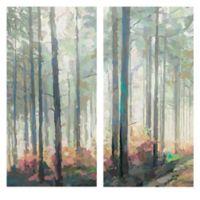 Woodland Journey Panel I & II 17-Inch x 34-Inch 2-Piece Canvas Wall Art Set