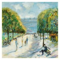 Parisian Afternoon IV 20-Inch Wrapped Canvas Wall Art