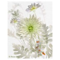 Garden Mum 22-Inch x 28-Inch Wrapped Canvas Wall Art