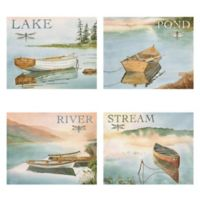 The Lake, Pond, River, & Stream 16-Inch x 20-Inch Canvas Wall Art (Set of 4)
