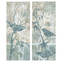 Winter Birds 8-Inch x 20-Inch Wrapped Canvas Wall Art