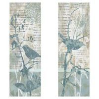 Winter Birds 12-Inch x 36-Inch Wrapped Canvas Wall Art