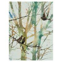 Botanical Birds I 18-Inch x 24-Inch Wrapped Canvas Wall Art
