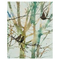Botanical Birds I 22-Inch x 28-Inch Wrapped Canvas Wall Art