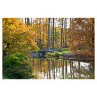 Masterpiece Art Gallery Bridge to Fall 24-Inch x 36-Inch Canvas Wall Art