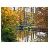 Masterpiece Art Gallery Bridge to Fall 30-Inch x 40-Inch Canvas Wall Art