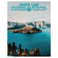 Masterpiece Art Gallery Crater Lake 22-Inch x 28-Inch Canvas Wall Art