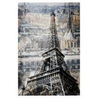 Masterpiece Art Gallery Paris Cityscape 24-Inch x 36-Inch Canvas Wall Art