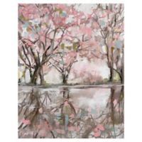Pink Blossom Reflection 22-Inch x 28-Inch Canvas Wall Art